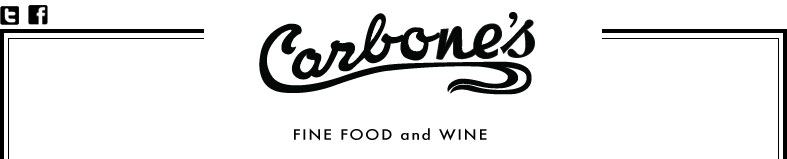 carbone's fine food and wine